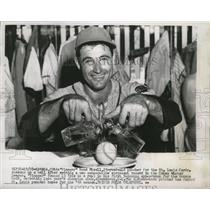 1955 Press Photo Vinegar Bend Mizell ,25 year old pitcher for th St. Louis Cards