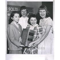 1958 Press Photo Spelling Bee Carla Koziol Doreen