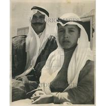 1958 Press Photo Palestinian Refugee Bedouin Sheik Kayd - RRR61229