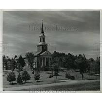 1951 Press Photo Lorimer Chapel, the first building on Colby College in Maine