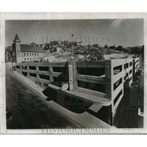 1954 Press Photo Bluefield's parking garage can accommodate 800 automobiles