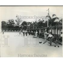 1957 Press Photo Lawn bowling international tournament in St. Petersburg