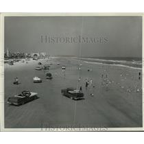 1958 Press Photo Dayton Beach, Fla., world's widest resort beach - mjx16206