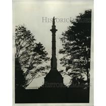1931 Press Photo Monument Yorktown commemorating victory of American Revolution