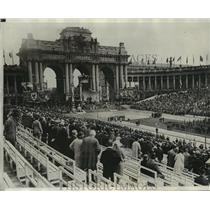 1930 Press Photo Brussels Belgium, Royal family celebrate Belgium Independence