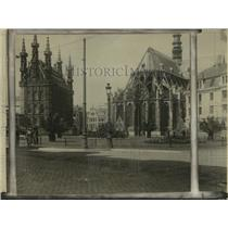 1924 Press Photo Cathedral of Louvain in Belgium undergoes reconstruction