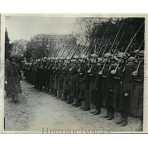 1929 Press Photo Belgian troops leave 2nd zone of Rhineland, at Aix-La-Chapelle