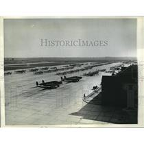 1943 Press Photo Training planes at Army Air Force School in Monroe, La.