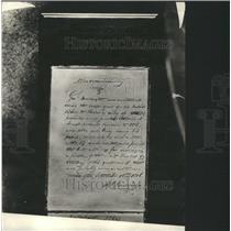 1924 Press Memorandum