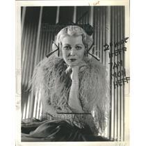 "1935 Press Photo Muriel Evans ""Have a Heart"""