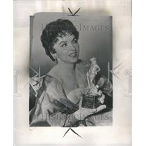1956 Press Photo Gina Lollobrigida Actress Photojournal
