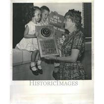 1961 Press Photo Bellringer Award Cystic Fibrosis
