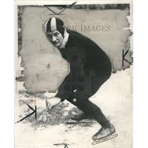 1931 Press Photo Arvid Friedlund Ice Skate Professional - RRR72163