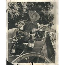 1938 Press Photo Cowboy