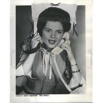 1960 Press Photo Nancy Hanschman newcaster.