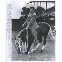 1955 Press Photo Arthur Morton Godfrey on horse