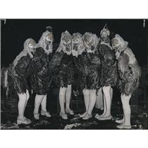 1946 Press Photo Bird Costumes, Mardi Gras, New Orleans - noca00165