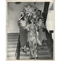 1949 Press Photo Carnival Queen of Virgilians - noca00872