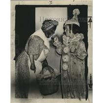 1947 Press Photo New Orleans Mardi Gras black face - noca00879