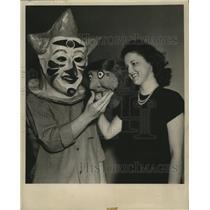 1947 Press Photo New Orleans Mardi Gras, Madge Bruder and Eddie Pardue