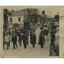 1948 Press Photo Arabi Carnival & Athletic Club Parade to Downtown New Orleans