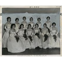 1962 Press Photo Carnival Ball- Ladies of Mithras Carnival Ball- - noca01786