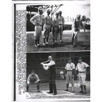 """1955 Press Photo Connie Mack, 93 """"grand Old Man of Baseball"""" died here 2/8."""