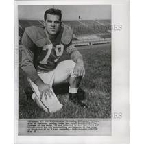 1957 Press Photo Lou Michaels, 230 pound University of Kentucky tackle.