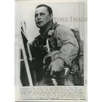 """1968 Press Photo Col Felix """"Doc"""" Blanchard , 43 ,Army's all time football great."""