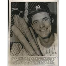 1961 Press Photo Catcher John Blanchard of New York Yankees flashes smile .