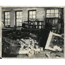 1931 Press Photo Prison riot caused wreckage of Illinois prison at Joliet
