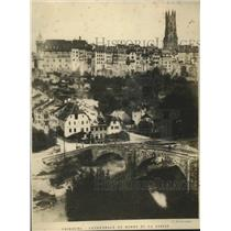 1919 Press Photo general view of Fribourg, Switzerland