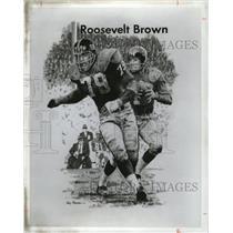 1975 Press Photo Mural of Roosevelt Brown by Gary Thomas - cvb76930