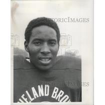 1970 Press Photo Football- Honester Davidson, (22) Cleveland Browns Rookie.
