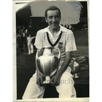1934 Press Photo Fred Perry wins the National Men's Singles Tennis Championship