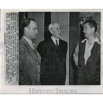 1947 Wire Photo Orville Wright Meets George Truman & Clifford Evans - cvw26102