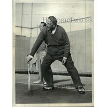1934 Press Photo William Randolph Hearst plays tennis with his sons - mja34592