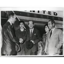 1960 Press Photo Douglas MacArthur II, Zentaro Kosaki, Korichiro Asakai And Wife