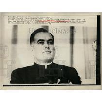 1965 Press Photo Reverend Theodore Heburgh Hears Civil Rights Testimonies