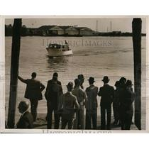 """1937 Press Photo """"Miss New Jersey"""" Winner of New York to Capital Boat Race"""