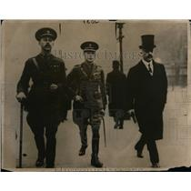 1918 Press Photo Prince Albert of Wales at House of Lords w/ Claude Hamilton