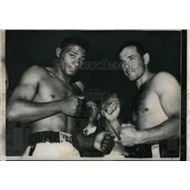 1959 Press Photo Ingemar Johansson vs Floyd Patterson for bout in NYC