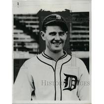 1934 Press Photo Detroit Tigers baseball player Frank Lamanski - net25653