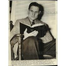 1938 Press Photo Harrington Gates Dartmouth College football player - net26083