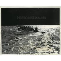 1934 Press Photo Columbi aUniversity crew for Poughkeepsie Regatta - net26864