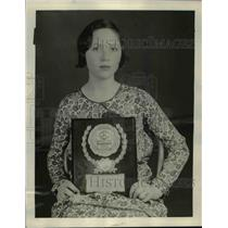 1929 Press Photo Spelling Bee Queen Ms Bren Best Speller Out of 35 High Schools