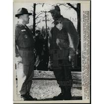 1967 Press Photo Pvt Willis Crenshaw & Drill instructor Sgt Chester Kittle