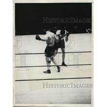 1934 Press Photo Boxers King Levinsky and Charley Massera during their match