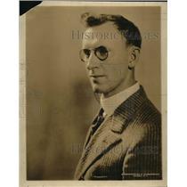 1920 Press Photo Journalist Charles Benedict Driscoll - nef16595