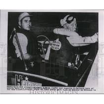 1954 Press Photo Speedboat drivers Michael Heim and Quentin DeClerk - net28453